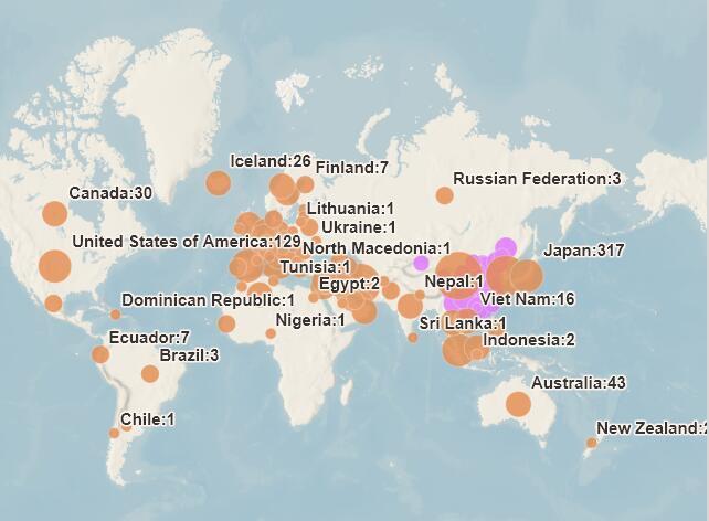 新冠肺炎蔓延到(dao)哪些國家 附名單