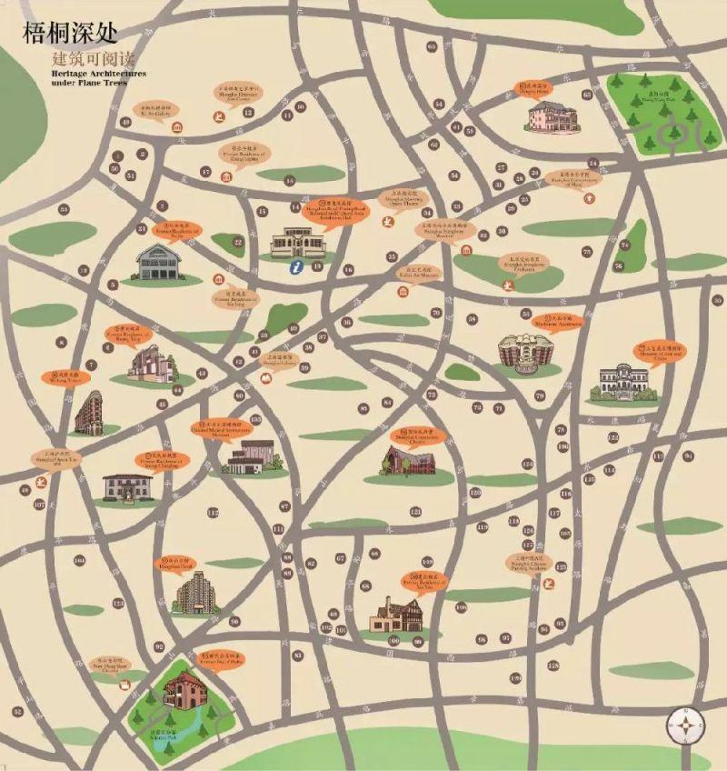 一张地图带你漫步上海衡复历史文化风貌区