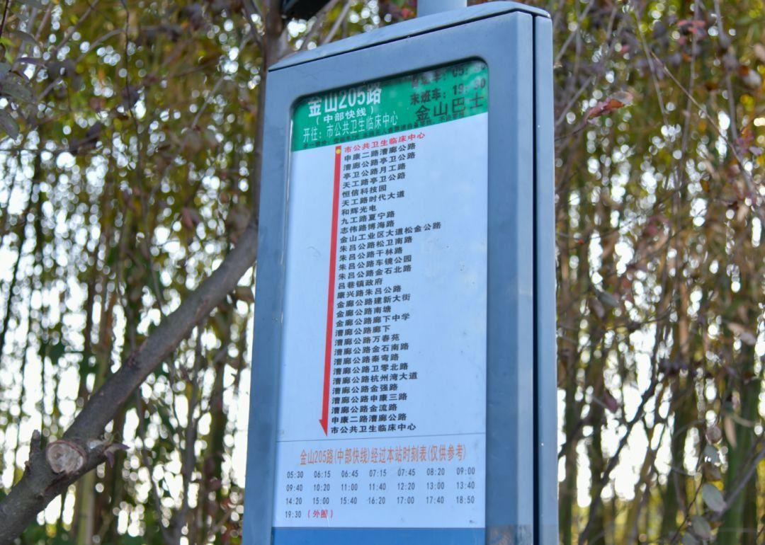 金山巴士公交205路正式开通 设置近30个站点