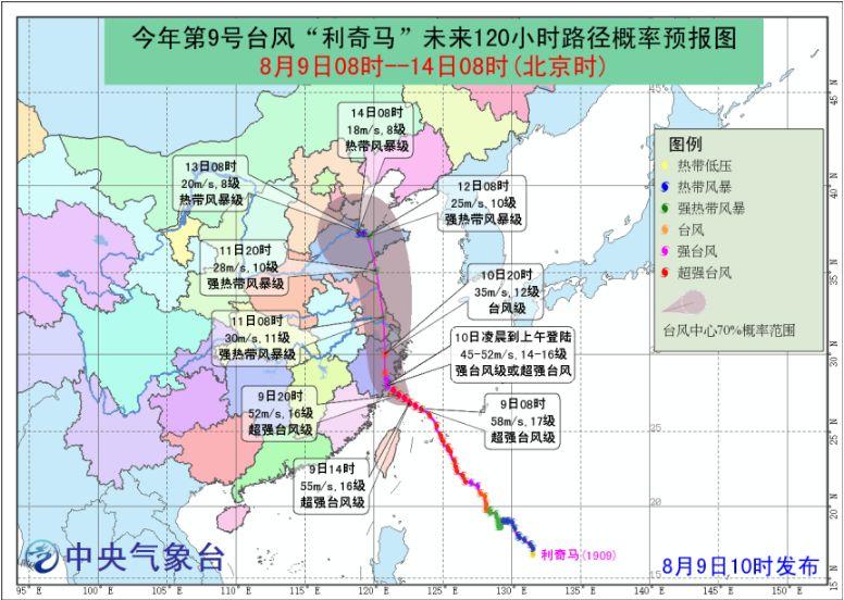 2019年9号台风利奇马登陆上海铁路部分列车停运 附车次
