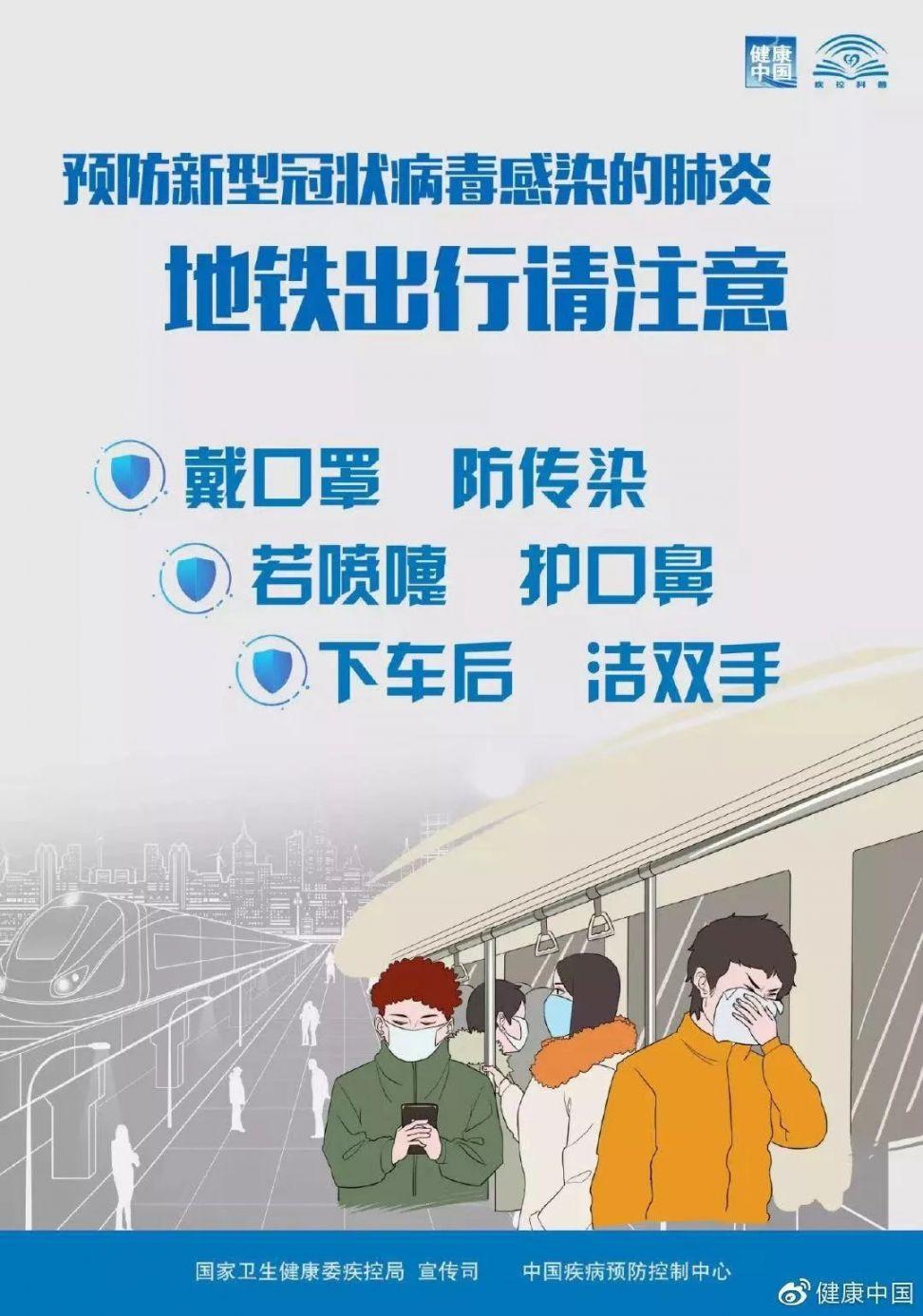 上海乘坐地铁须戴口罩 对未佩戴的乘客进行劝离