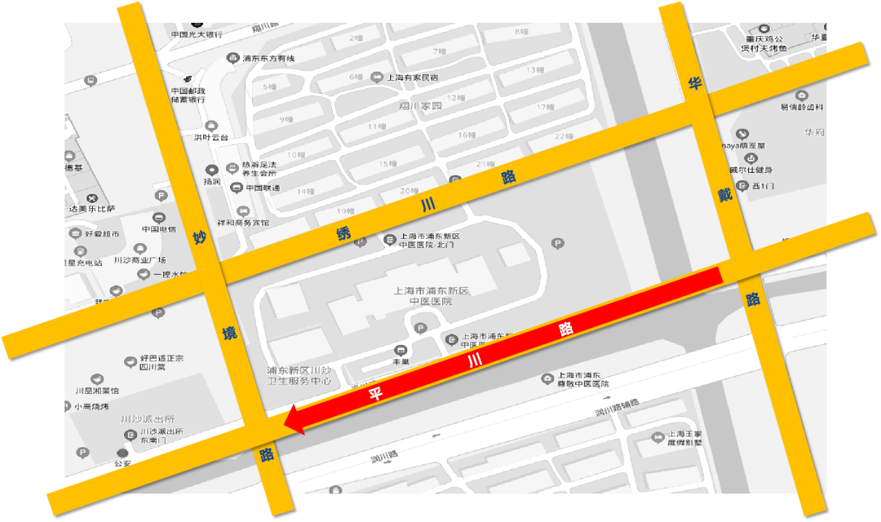 8月1日起上海浦东川沙新镇平川路改为单行道