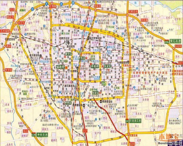 石家庄地图全图高清版