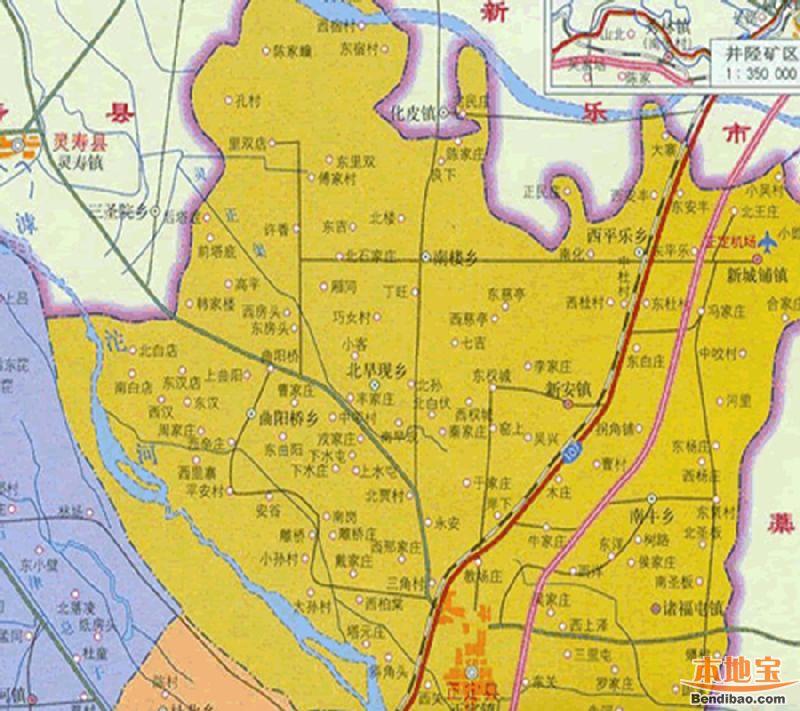 正定县地图全图高清版