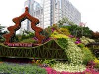 2016年北京天安门及长安街国庆立体花坛