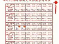 2018春运火车票预售期时间表公布 附春运