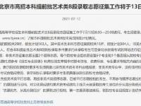 2021北京高考本科提前批藝術類B段志愿