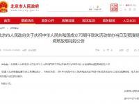 2019北京国庆烟花表演燃放时间地点公布