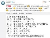 广东未来几日受弱冷空气影响 平均气温小