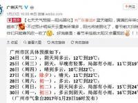 广州未来三天天气预报 今天早晚有轻雾