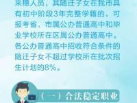 一图看懂随迁子女在广州参加2018年中考
