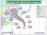"""2018年第14号台风""""摩羯""""最新路径图("""