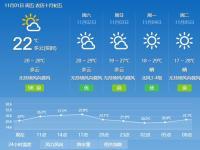 2019年11月1日广州天气多云到晴 19℃~2