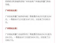 广州到厦门高铁票价是多少?票价12月1日