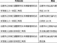 2018合肥新增4处驾考考场(附地址)