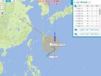 2018臺風安比到寧波的實時路徑查看