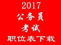2017年国家公务员考试职位表公布 在线下