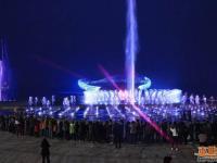 苏州湾阅湖台大型音乐喷泉水舞秀开放时