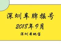 2018年第9期深圳车牌摇号结束 中签率迎