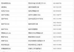 陕西各市汽车站地址、电话一览表