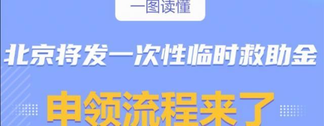 北京一次性臨時救助金申請流程圖解