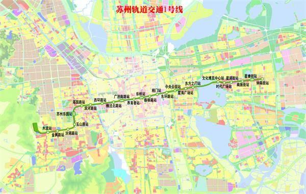 苏州地铁1号线线路图 地铁1号线时刻表 1号线票价 苏州本地宝 苏州本图片