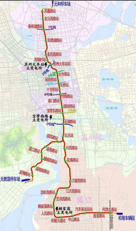 苏州地铁4号线线路图 站点分布详情图片