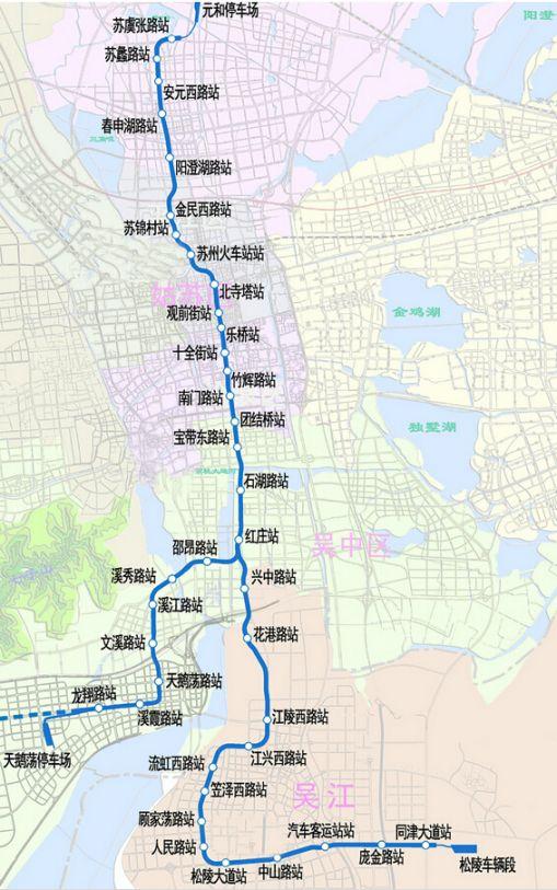 苏州地铁4号线线路图