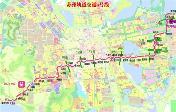 苏州地铁5号线最新线路图图片