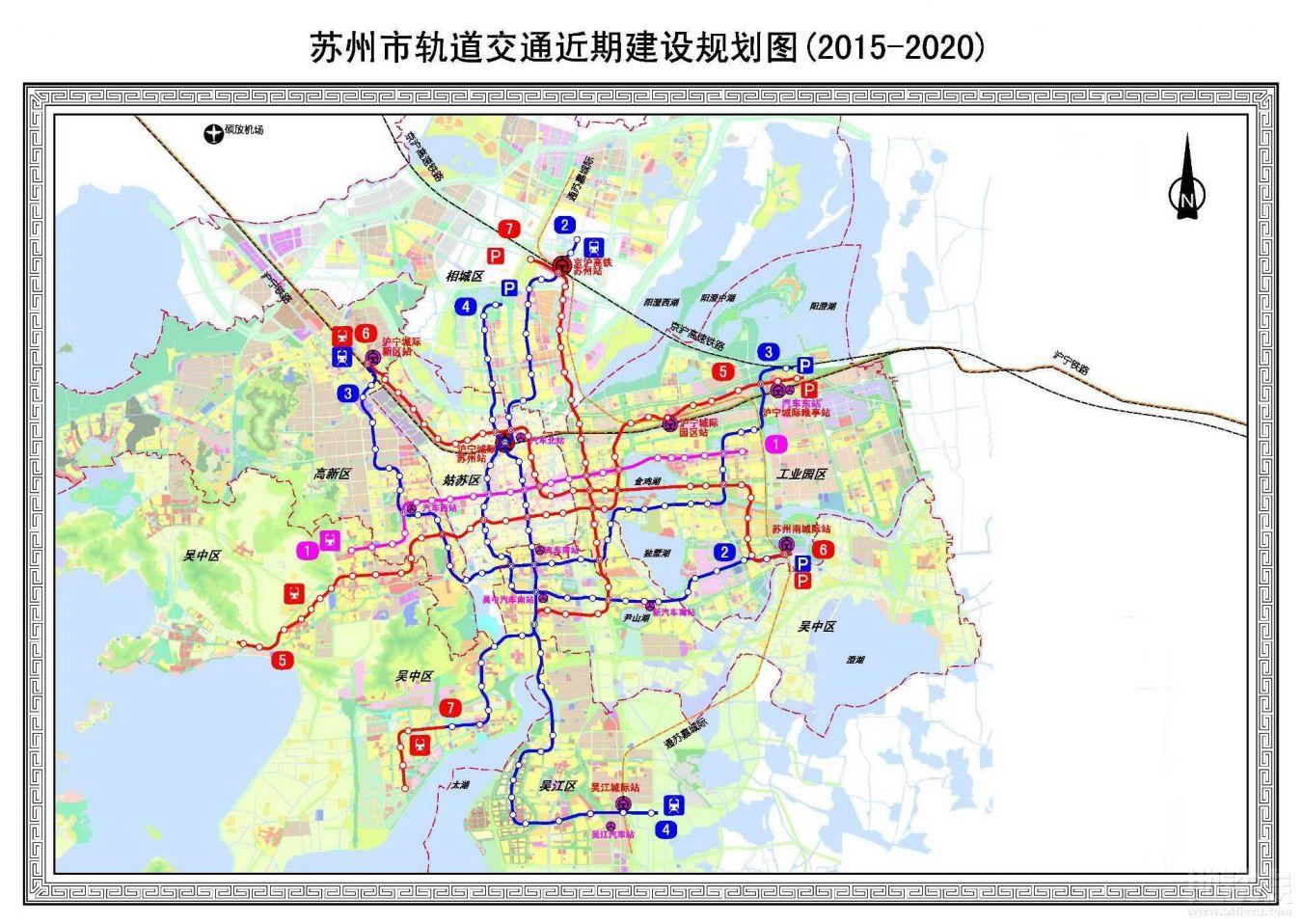 苏州地铁7号线规划图