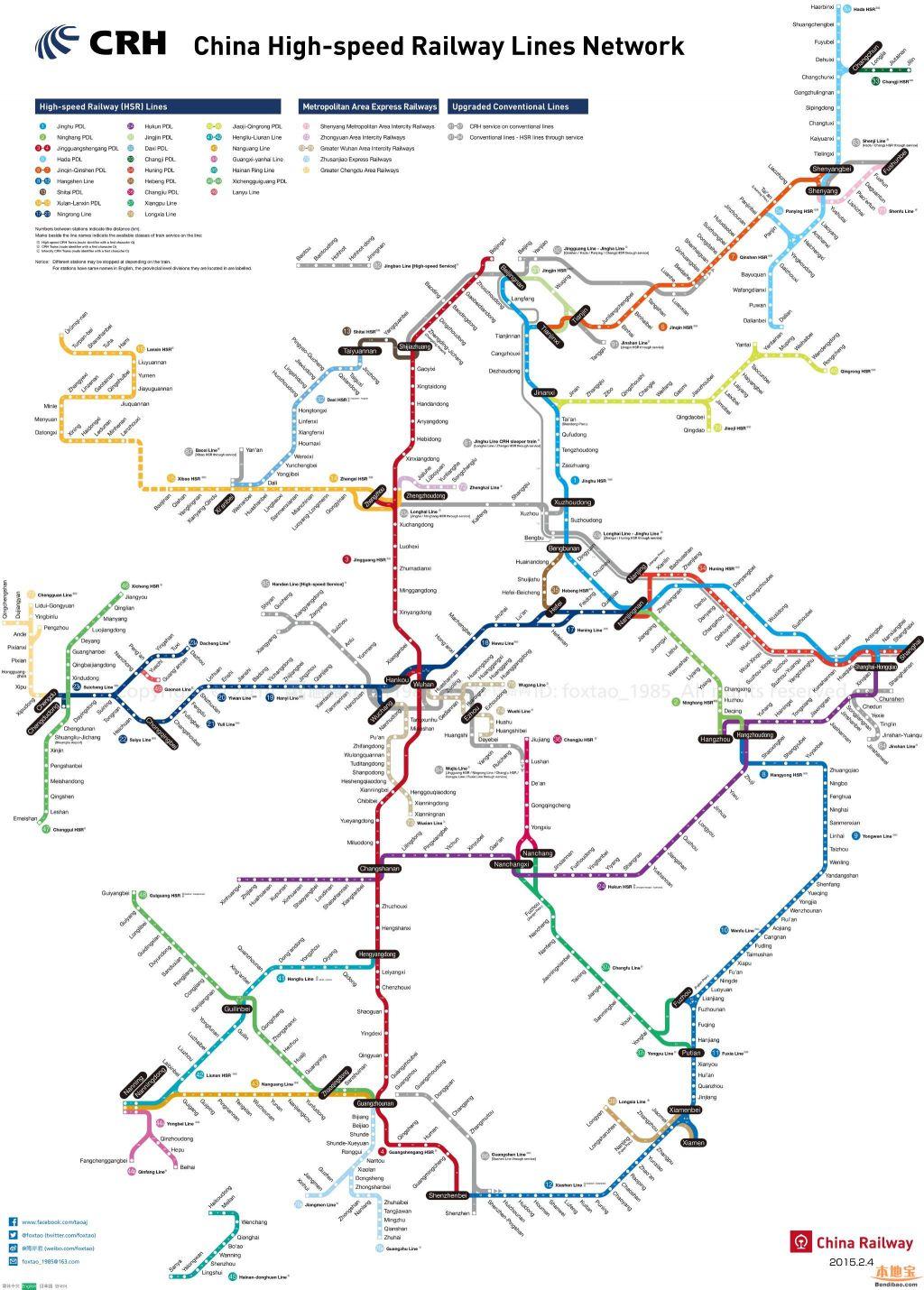 中国高铁规划_中国高铁全网运营线路图外文版(英文+日文+韩文)- 苏州本地宝