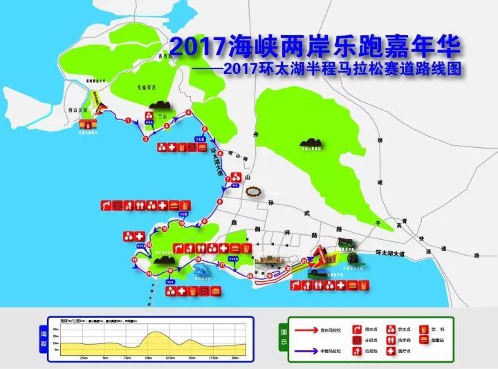 2017海峡两岸环太湖半程马拉松路线图图片