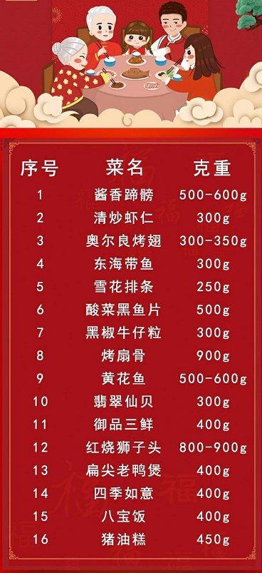 苏州广电TV购半成品年夜饭(菜单+订餐电话)