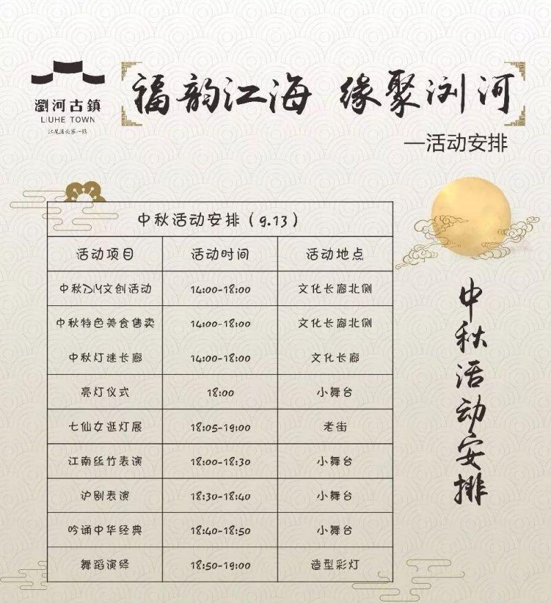 2019浏河古镇中秋赏月灯会(时间 活动 导览图)