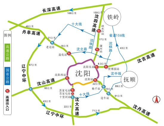 沈阳录取高速出入口图绕城线西安高中图片