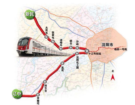 沈阳地铁一号线线路走向图片