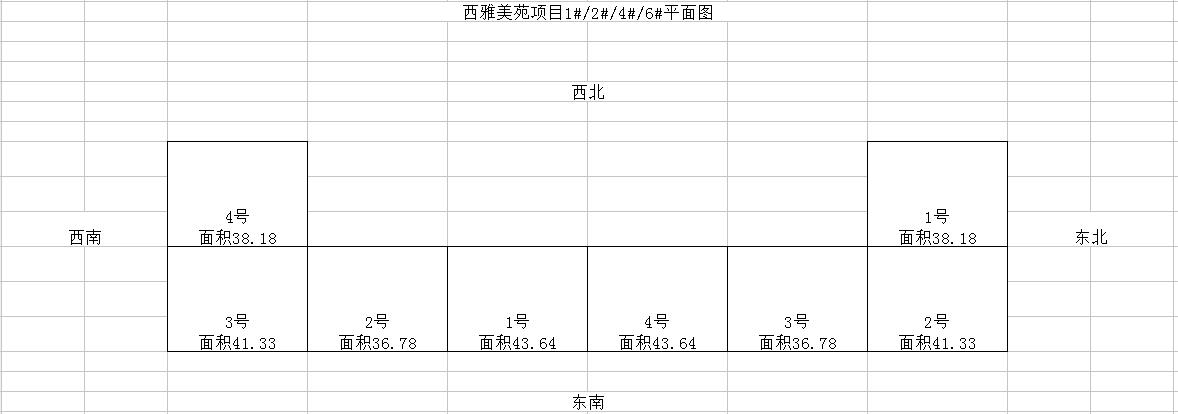 2018年沈阳第二批公租房西雅美苑、西雅嘉园平面图