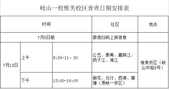 2020沈阳皇姑区岐山一校入学普查时间表