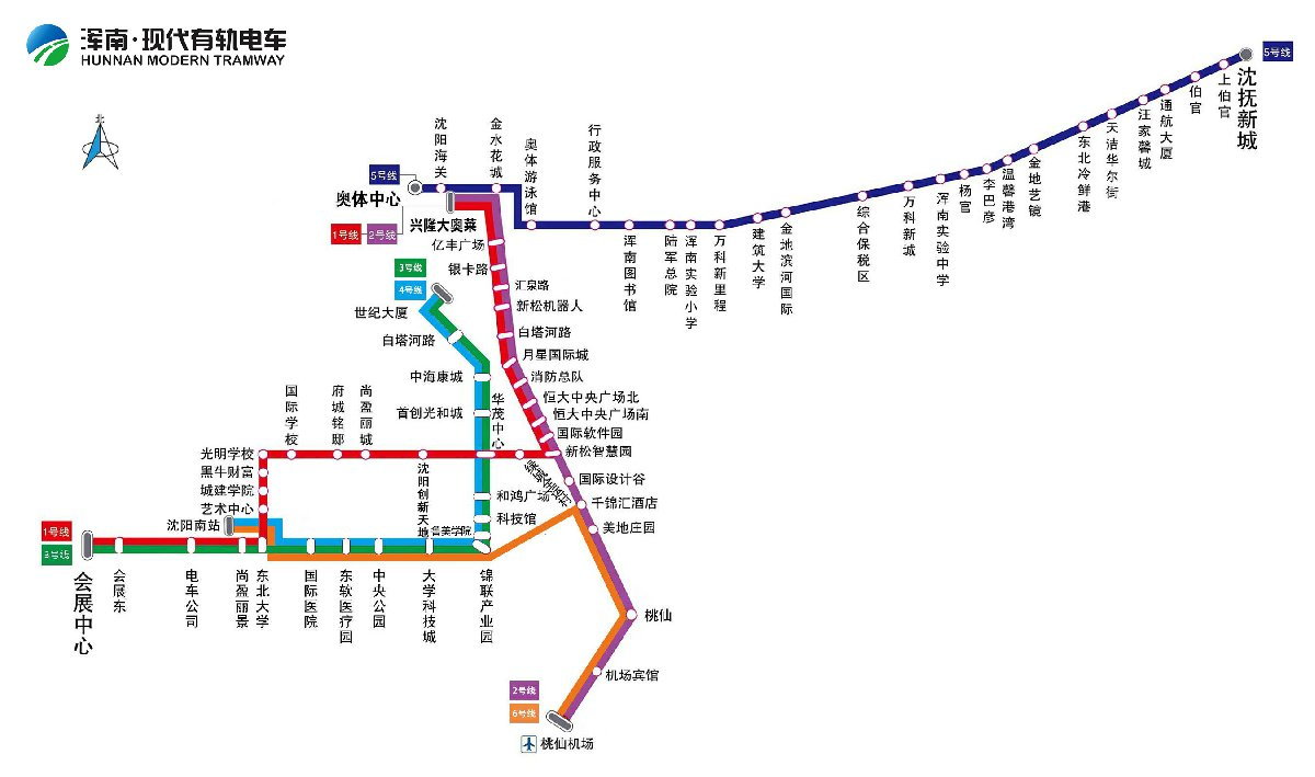 沈陽有軌電車線路圖