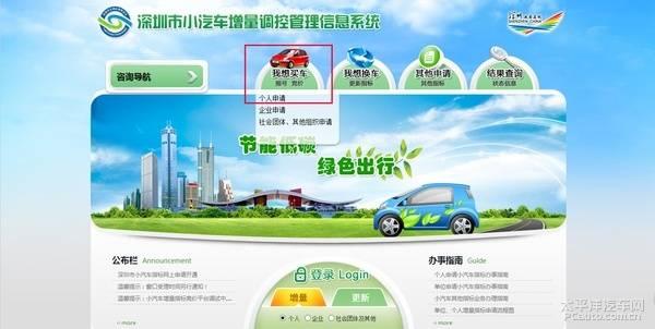 深圳车牌摇号攻略图解(条件 流程 申请网站)