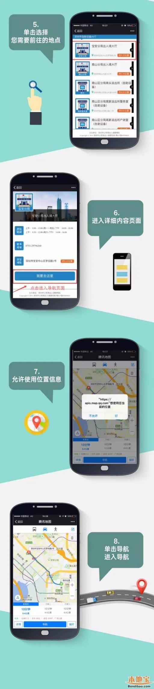 在深圳如何找到附近的出入境办证网点?(图文详解)