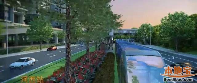 龙华有轨电车进展迅速 大和站环形天桥梁架完成