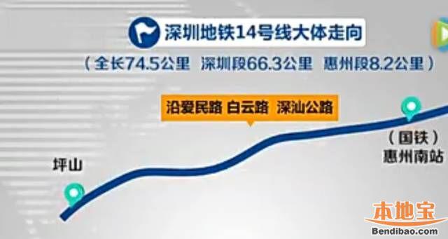 深圳地铁14号线详解(主线+惠州段+龙岗支线)