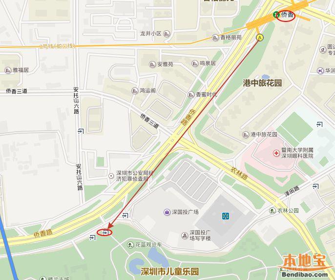 深圳市儿童乐园坐地铁怎么去(位置+地铁站)