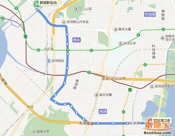 深圳公交B688改为M507路 并延伸至西乡大铲湾码头