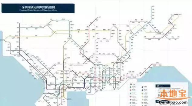 (深圳未来地铁线路图)-深圳地铁三条新线年内通车 四段延长线东进图片