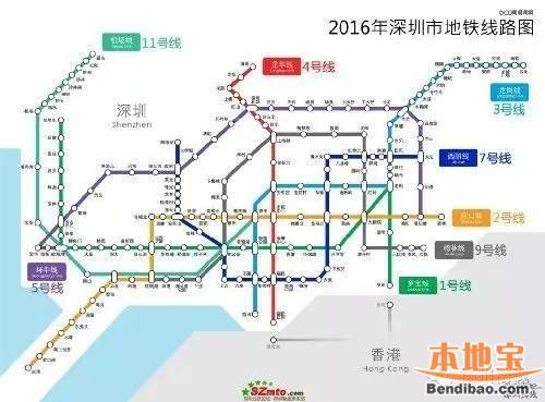 深圳地铁11号线线路图及站点一览