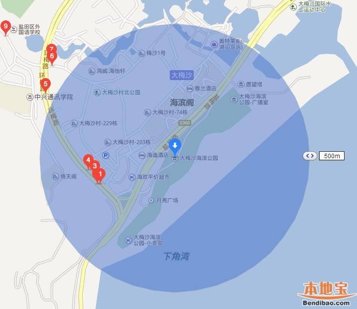 深圳大梅沙海滨公园在哪里