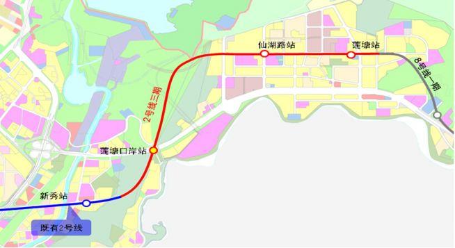 深圳地铁2号线东延段(站点、线路图、开通时间、最新消息)