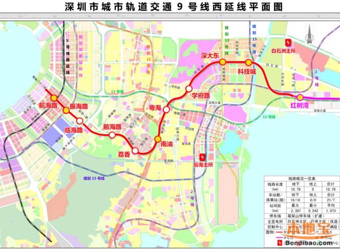 深圳地铁9号线西延线规划(线路图+站点+通车时间+工程进展)